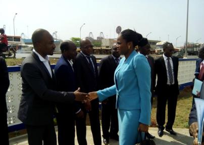 Cérémonie d'ouverture du nouveau bureau de poste de Lomé port.