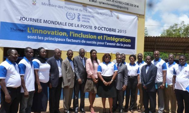 Journée mondiale de la poste 2015, visite de l'agence Tokoin à Lomé